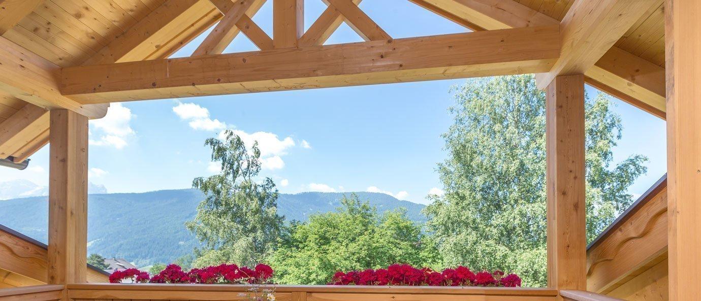 Bäckerhof Appartamento Vacanza Alpenglühn balcone sul tetto