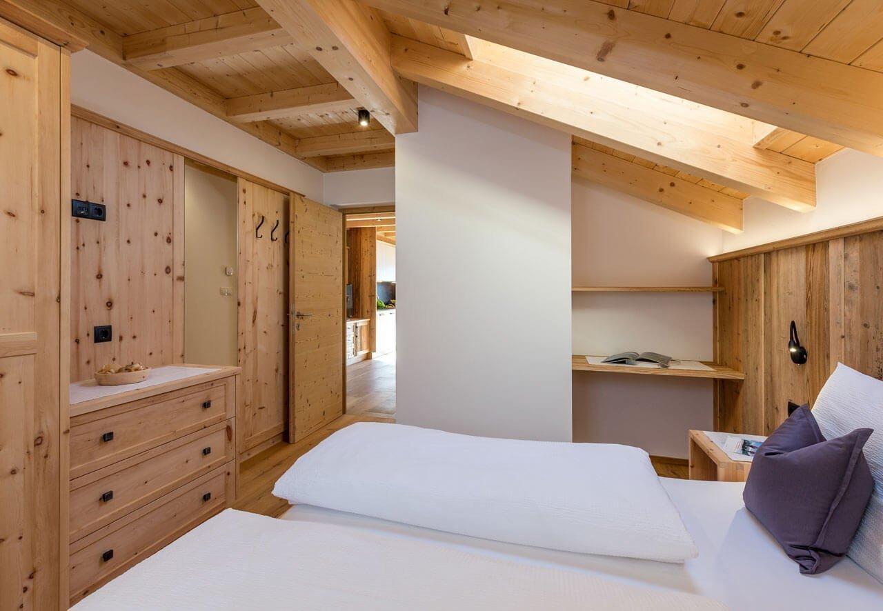 Bäckerhof Ferienwohnung Morgentau Schlafzimmer